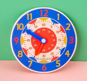 Children Educational Wooden Time Learning Clock   Toys for sale in Lagos State, Ikeja