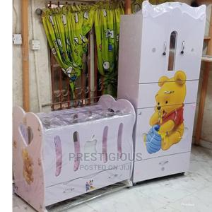 Pooh Character Wardrobe Cot | Children's Furniture for sale in Lagos State, Ikoyi