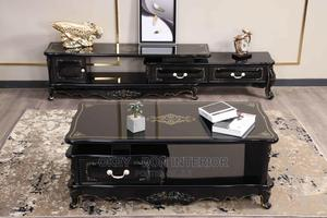 Quality Wooden With Glass Top TV Stand and Center Table | Furniture for sale in Lagos State, Lagos Island (Eko)