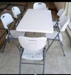 Plastic Dining by 6 With Six Plastic Chairs | Furniture for sale in Lagos State, Badagry