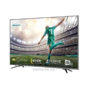 Hisense 55-Inch Smart UHD 4K TV (2021) - Black, With FREE   TV & DVD Equipment for sale in Lagos State, Ikeja