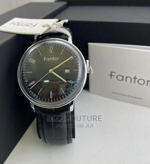 High Quality FANTOR Black Leather Watch for Men   Watches for sale in Abuja (FCT) State, Maitama