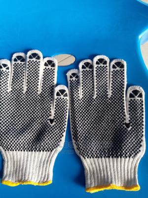 Pvc Dotted Cotton Hand Gloves   Safetywear & Equipment for sale in Rivers State, Port-Harcourt