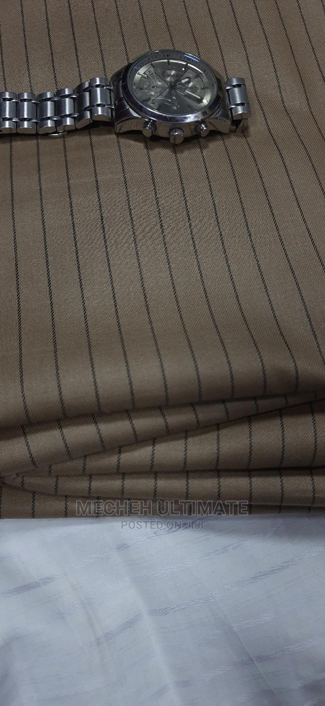1 Yard Senator Material,Catorn Brown Stripe