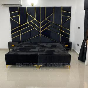 6by6 Upholstery Padded Bedframe | Furniture for sale in Lagos State, Ojo