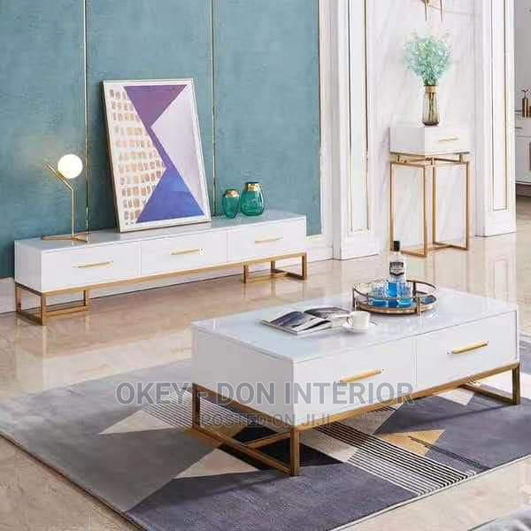 Quality Glass Top Center Table and TV Stand
