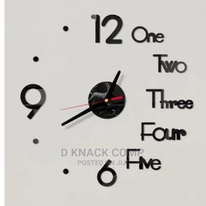 Number Word 3D Wall Clock Mirror Wall Stickers Creative | Home Accessories for sale in Lagos State, Surulere
