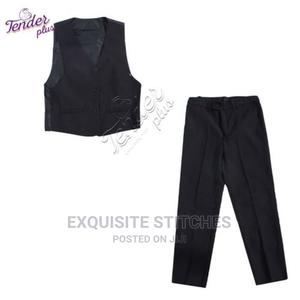 Boys Black Waist Coat and Trousers | Children's Clothing for sale in Lagos State, Ojodu