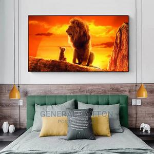 Modern Art Lion Kings Canvas Paintings on the Wall Movie Art | Home Accessories for sale in Lagos State, Ikoyi