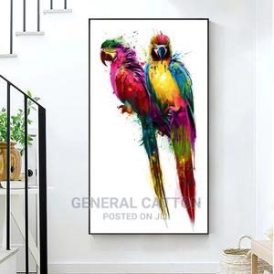 RELIABLI ART Colorful Bird Parrot Pictures Canvas Painting | Home Accessories for sale in Lagos State, Ikoyi
