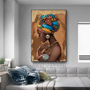 Africa Wall Art Canvas Painting Black Woman Prints | Home Accessories for sale in Lagos State, Ikoyi