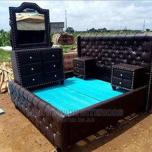 6by6 Padded Leader Bedframe King Size | Furniture for sale in Lagos State, Ojo