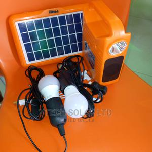 Rechargeable Solar Power Kit With Music Player Two Bulbs | Solar Energy for sale in Lagos State, Ojo