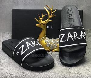 Quality Designer Leather Slippers Zara Available for U   Shoes for sale in Lagos State, Lagos Island (Eko)