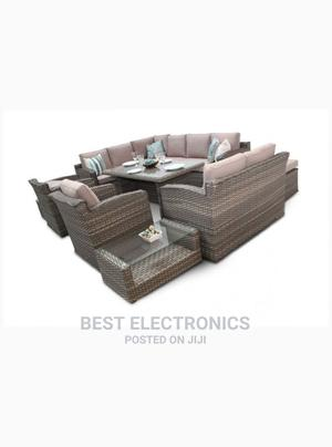 Chelsea Grand Rattan Corner Sofa Dining Set - Natural | Furniture for sale in Abuja (FCT) State, Asokoro