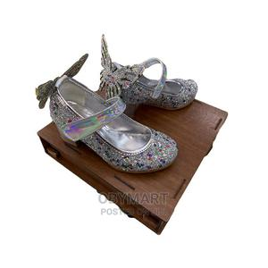 Silver Mid-Heel Turkey Butterfly Dress Shoe | Children's Shoes for sale in Lagos State, Isolo