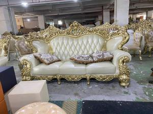 Complete Set of Nigeria Made ,Offull Carving Royal Chair | Furniture for sale in Lagos State, Ipaja