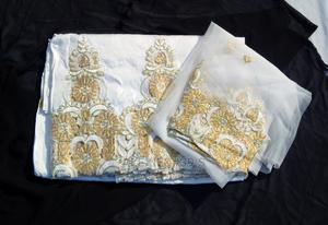 Beaded/Embroidered White & Gold Indian George With Blouse | Clothing for sale in Abuja (FCT) State, Kubwa