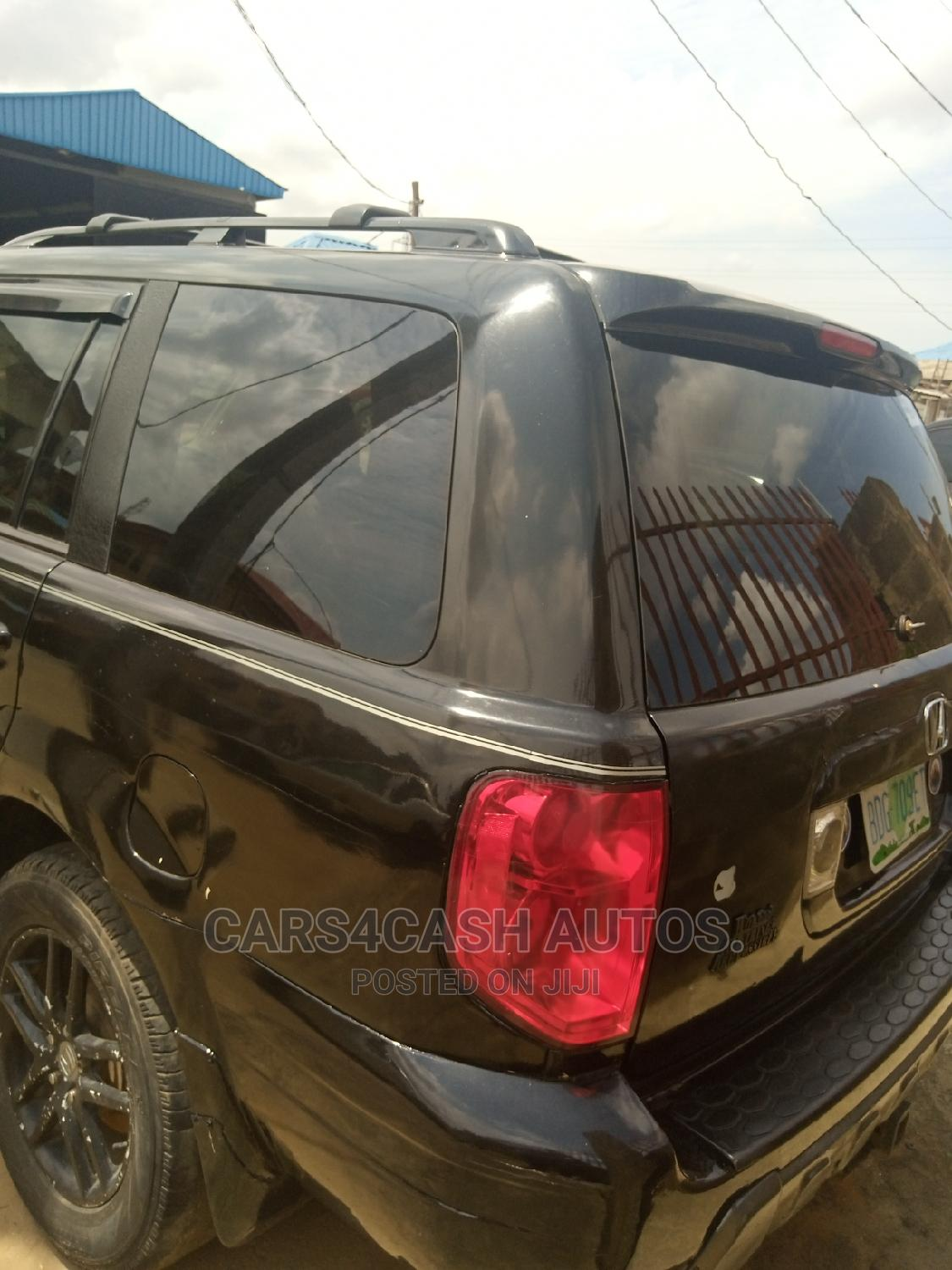 Honda Pilot 2004 EX 4x4 (3.5L 6cyl 5A) Black | Cars for sale in Isolo, Lagos State, Nigeria