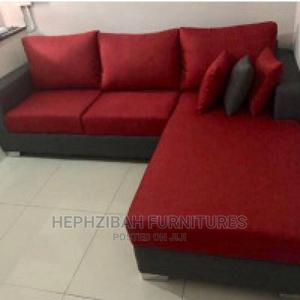 L Shaped Sofa With Throw Pillows | Furniture for sale in Lagos State, Surulere