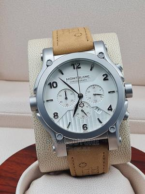 High Quality MONTBLANC Leather Watch for Men   Watches for sale in Lagos State, Magodo