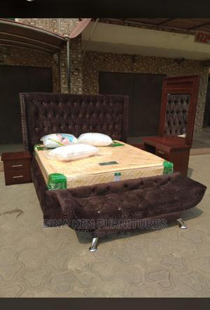 Queens Bed With Mattress   Furniture for sale in Lagos State, Ojo