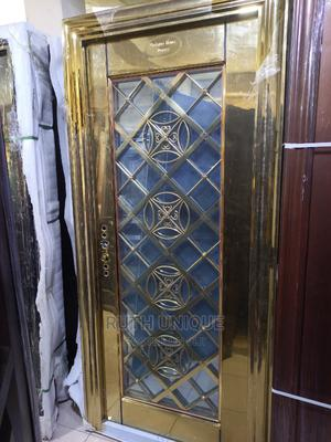 3ft Gold in Gold Glass Door | Doors for sale in Lagos State, Orile