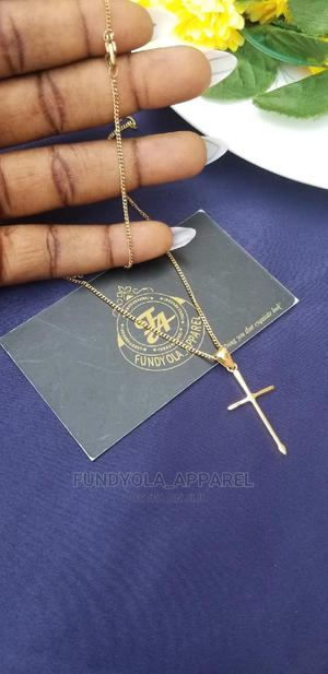 Gold Steel Cross Pendant | Jewelry for sale in Lagos State, Ajah