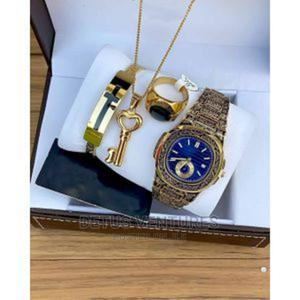 Set of Wrist Watch With Bangle, Ring and Necklace   Watches for sale in Lagos State, Surulere