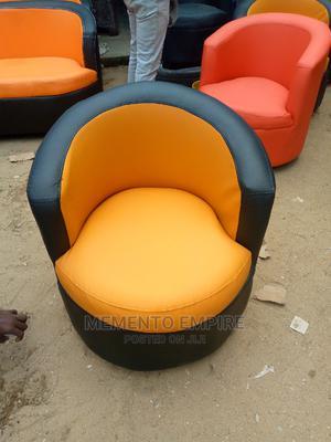 Orange Black Sofa Comb.   Furniture for sale in Lagos State, Lekki