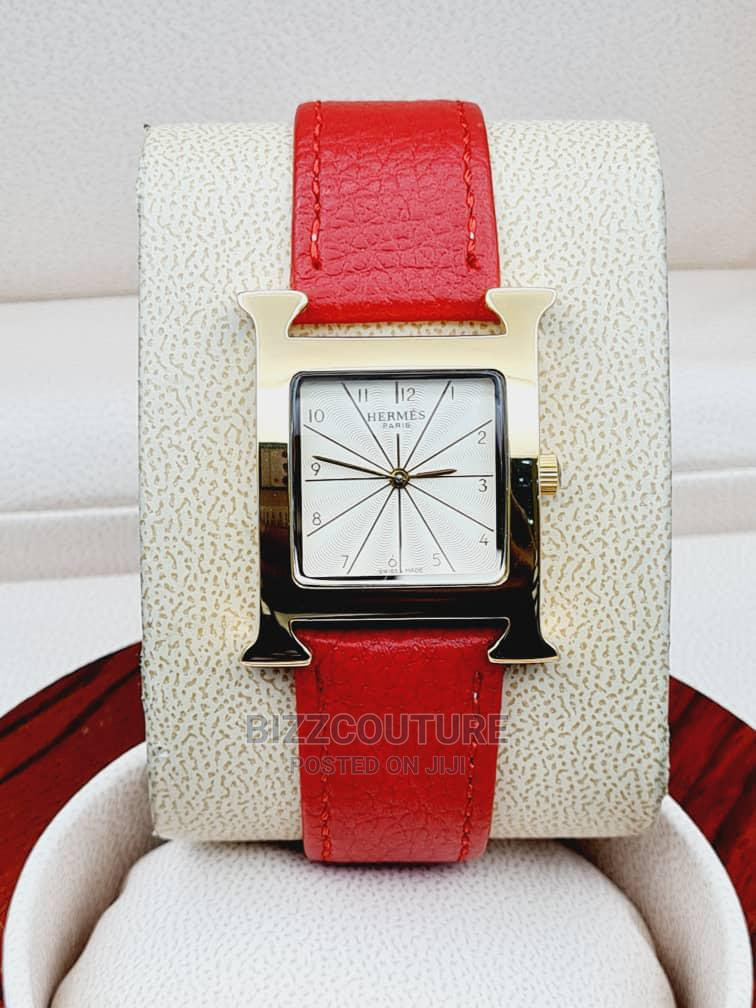 High Quality HERMES Leather Watch for Men