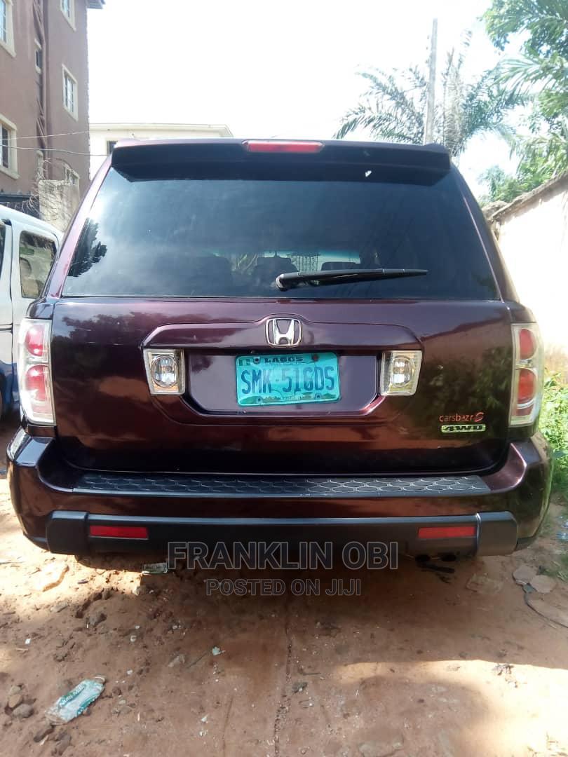 Honda Pilot 2007 EX-L 4x4 (3.5L 6cyl 5A) Red   Cars for sale in Awka, Anambra State, Nigeria