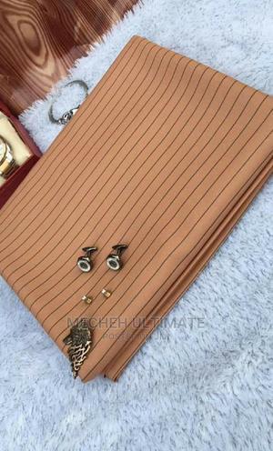 1 Yard Senator Material,Peach Stripe | Clothing for sale in Lagos State, Lagos Island (Eko)