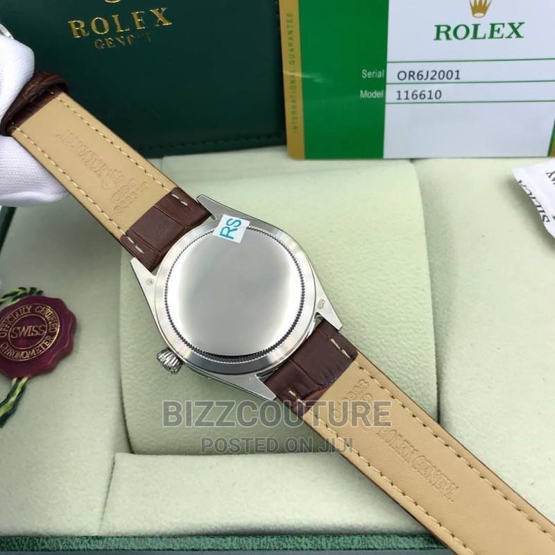High Quality Rolex Cellini Moonphase Brown Leather Strap | Watches for sale in Magodo, Lagos State, Nigeria
