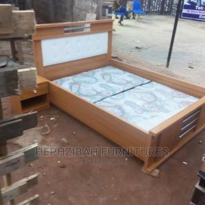 4 1/2 X 6 Bed Frame With Bedside Drawer   Furniture for sale in Lagos State, Yaba