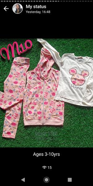 Girls Mickey Mouse Hoodie With Long Sleeve Shirt and Pant | Children's Clothing for sale in Oyo State, Oluyole