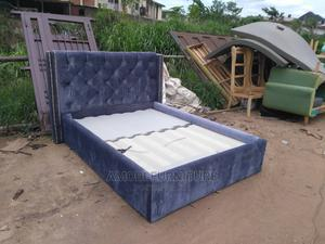 Quality 6 by 6 Padded Bed Frame Upholstery | Furniture for sale in Lagos State, Ikeja