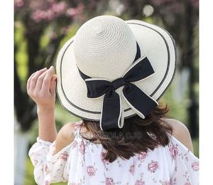 Outdoor Folding Female Straw Hat. Perfect for (Church Beach) | Clothing Accessories for sale in Lagos State, Surulere