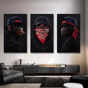 Funny Animal Painting Gorilla Canvas Paintings Wall Art | Home Accessories for sale in Lagos State, Ikoyi