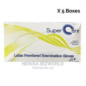 Super Care High Quality Examination Hand Gloves X 500 Pcs | Medical Supplies & Equipment for sale in Lagos State, Kosofe
