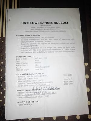 Human Resources CV | Human Resources CVs for sale in Rivers State, Obio-Akpor