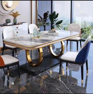 Royal Luxury Marble Dinning Set With 6 Chairs | Furniture for sale in Lagos State, Ajah