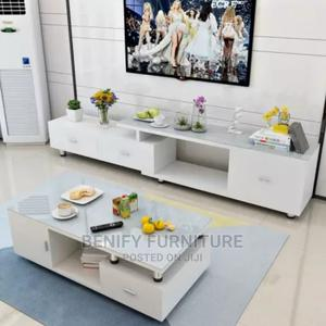 Locally Made Matching Center Table and Tv Stand | Furniture for sale in Lagos State, Ikeja
