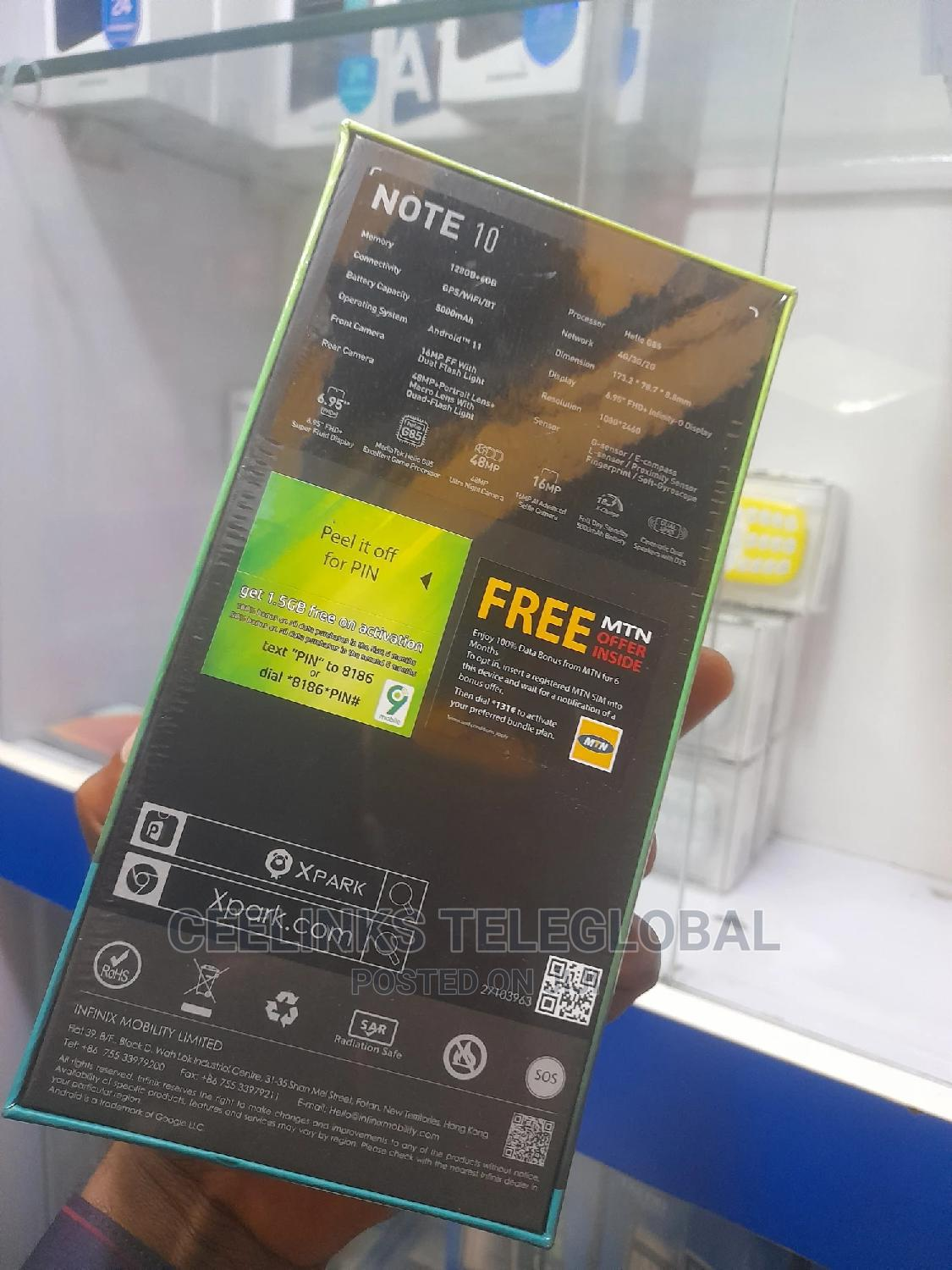 New Infinix Note 10 128 GB Pink | Mobile Phones for sale in Ikeja, Lagos State, Nigeria