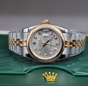 High Quality ROLEX Date-Just Gold Silver Chain Grade AAA | Watches for sale in Lagos State, Magodo