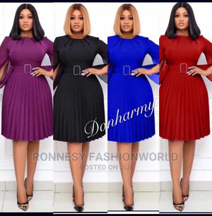 Classic Elegant Trendy Female Quality Pleated Gown | Clothing for sale in Lagos State, Ikeja