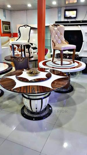Quality Marble Round Dining Table With 6 Chairs | Furniture for sale in Lagos State, Victoria Island