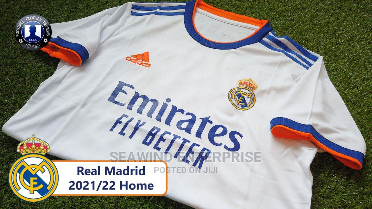 Real Madrid Home KIT 2021/2022   Clothing for sale in Ikeja, Lagos State, Nigeria