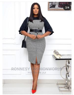 New Classic Female Quality Fitted Checkers Gown   Clothing for sale in Lagos State, Ikeja