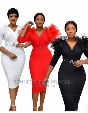 Elegant Classic Trendy Female Quality v Neck Fitted Gown   Clothing for sale in Lagos State, Ikeja